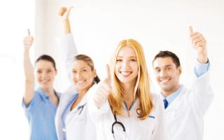 Group of nurses smiling